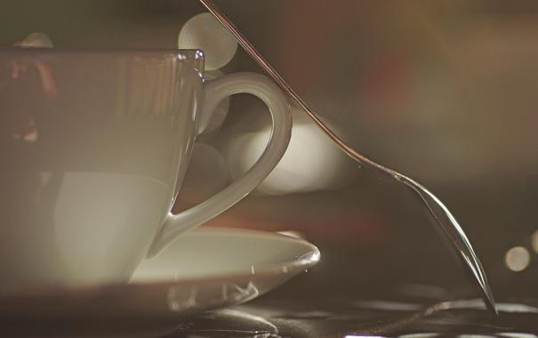 Фото обои завтрак, чайник, ложка, чашка, заварник