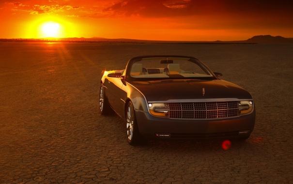 Фото обои Lincoln, Concept, закат, пустыня, линкольн, Mark X