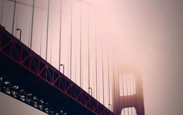 Фото обои туман, фото, вид, Город, City, америка, Сан Франциско