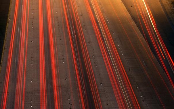 Фото обои дорога, огни, драйв, шоссе