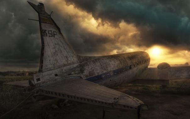 Фото обои небо, авиация, самолёт