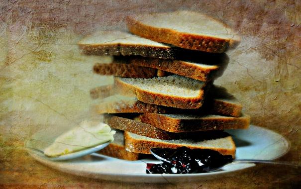 Фото обои фон, еда, хлеб, стиль