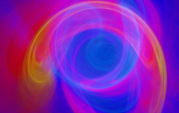 Фото обои узор, газ, свет, фрактал, дым, цвет