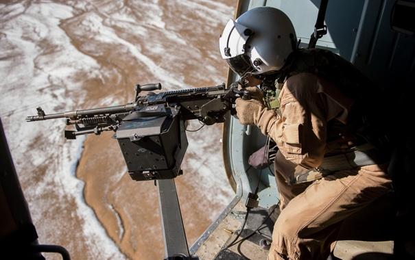Фото обои оружие, солдат, пулемёт