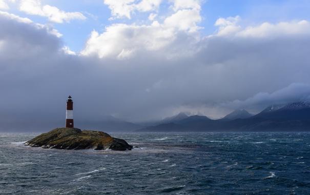Фото обои море, пейзаж, маяк