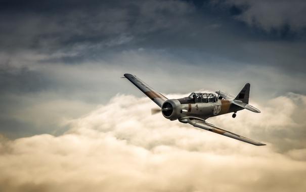 Фото обои полет, самолёт, лёгкий, учебный, AT-6 Harvard