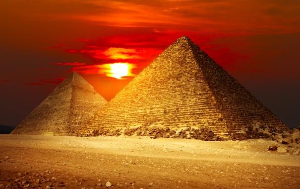 Фото обои песок, закат, пустыня, Египет, desert, sunset, sand