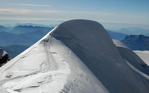 Фото обои свет, снег, гора