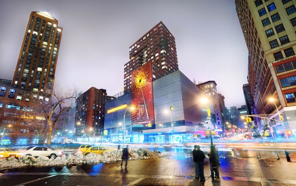 Фото обои ночь, нью-йорк, night, new york, usa, nyc, Union Square