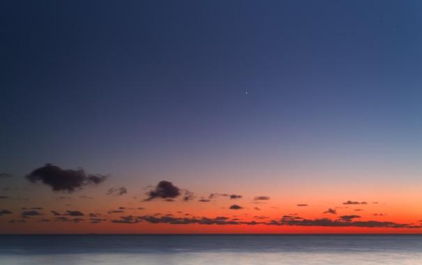 Фото обои облака, восход, Венера, Регул
