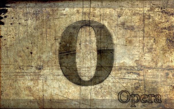 Фото обои поверхность, фон, логотип, опера, браузер, старая, царанины