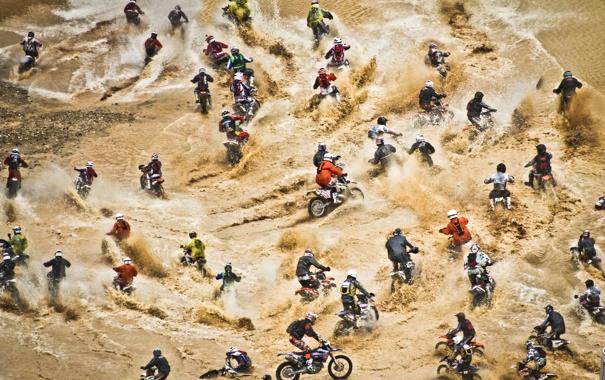 Фото обои люди, мотоциклы, соревнование, Red Bull Hare Scramble