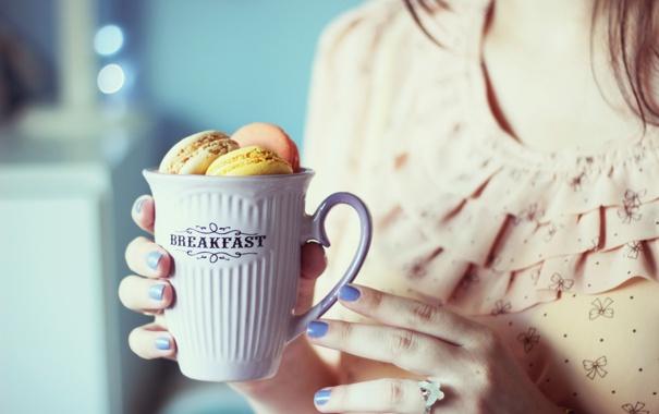 Фото обои печенье, кольцо, кружка, чашка