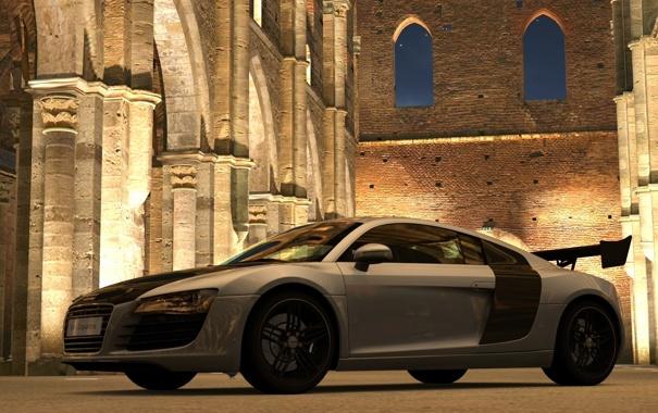Фото обои Audi R8, GT5, Аббатство Сан-Гальяно