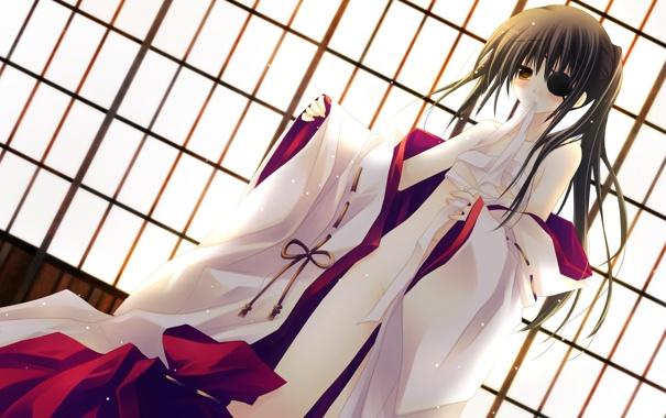 Фото обои Девушка, повязка, кимоно, бинты