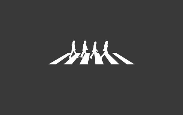 Фото обои фон, группа, четверо, The Beatles, идут, битлз, четыре