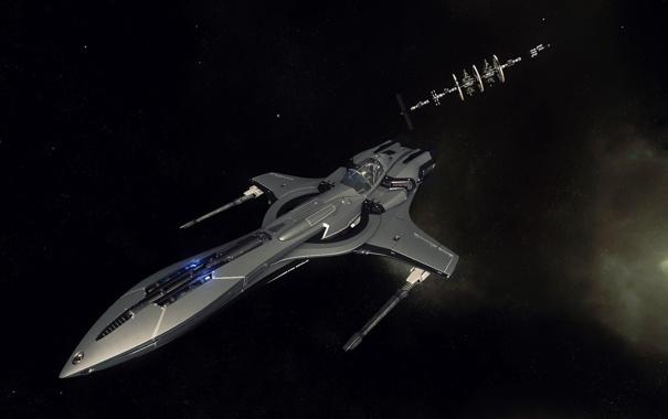 Фото обои космос, полет, станция, космически корабль