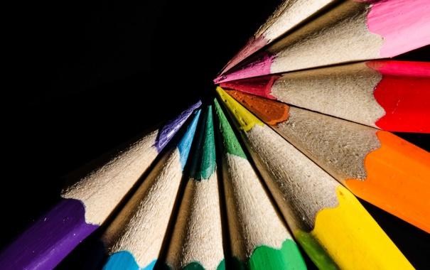 Фото обои фон, карандаш, макро, цвет