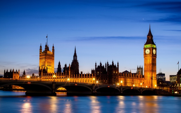 Фото обои вода, свет, мост, отражение, река, Англия, Лондон