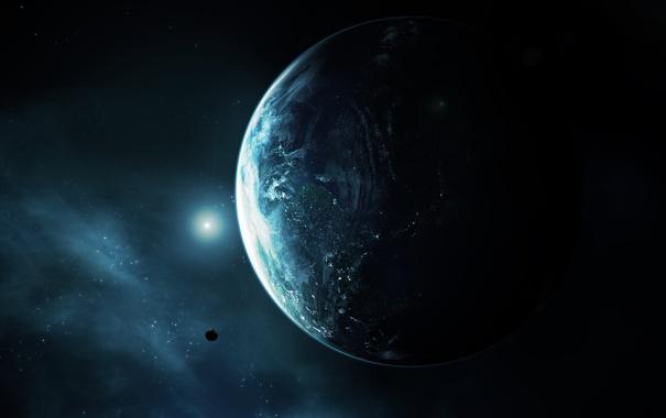 Фото обои свет, земля, планета