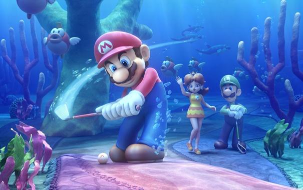Фото обои Nintendo, mario, Luigi, Mario Golf World Tour