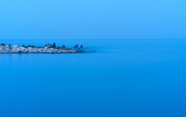 Фото обои Blue, Romania, Black Sea, Breakwater, Eforie