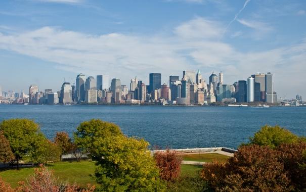 Фото обои природа, город, New York City