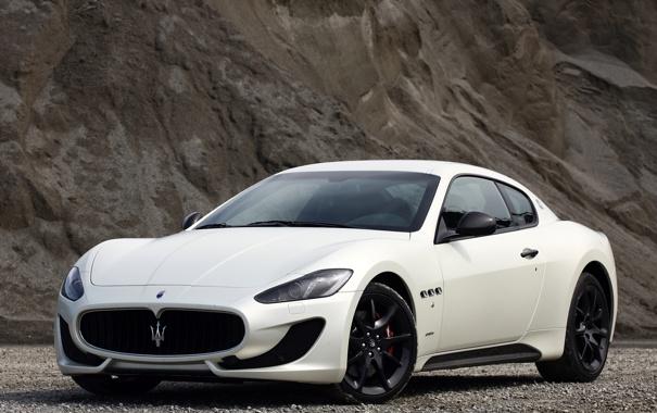Фото обои белый, Maserati, GranTurismo, мазерати, Sport, грантуризмо, MC line