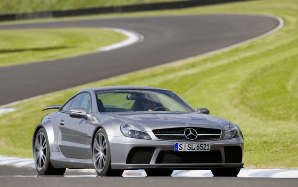 Фото обои mercedes, benz, 1920x1200, SL 65 AMG BS