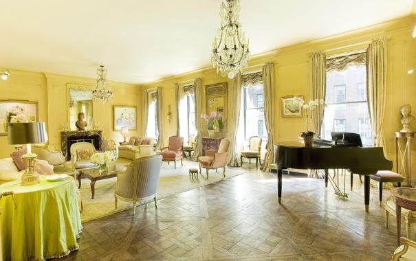 Фото обои дизайн, стиль, интерьер, квартира, мегаполис, Manhattan, жилая комната