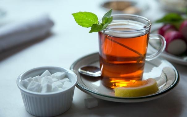 лимон, чай, сахар