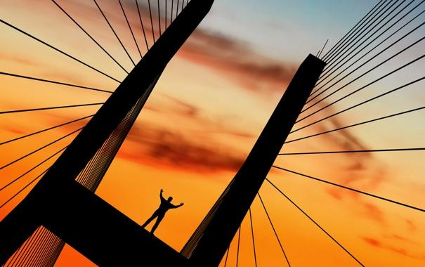 Фото обои свобода, люди, настроение, настроения, человек, минимализм, сооружения
