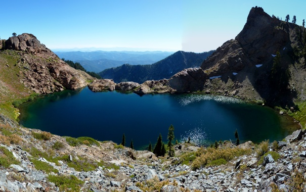 Фото обои лес, горы, озеро, красота