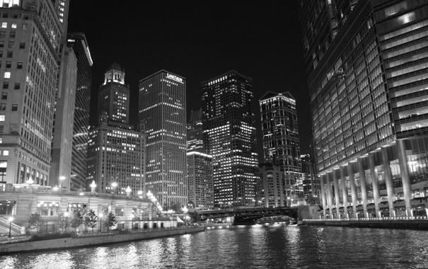 Фото обои city, небоскребы, USA, америка, чикаго, Chicago, сша