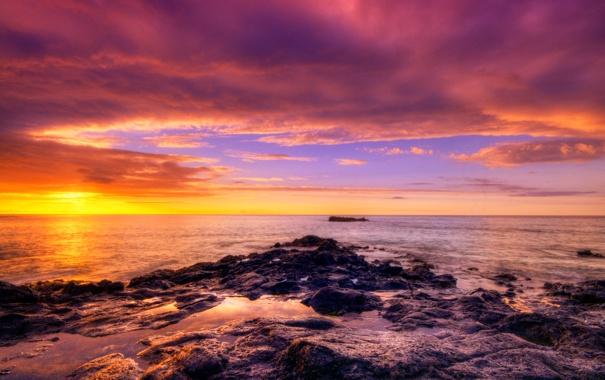 Фото обои закат, камни, африка, океан