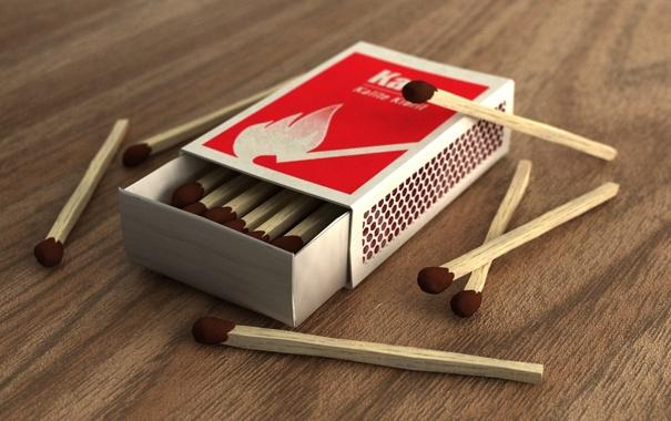 Фото обои коробка, спичьки, matchbox