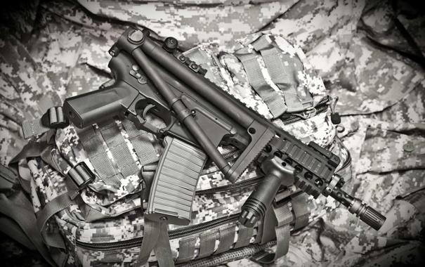 Фото обои оружие, сумка, винтовка, штурмовая, KAC PDW, малогабаритная