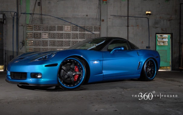 Фото обои Z06, Corvette, Chevrolet, blue, 360 three sixty forged