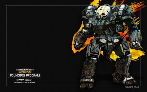 Фото обои робот, Atlas, MechWarrior Online