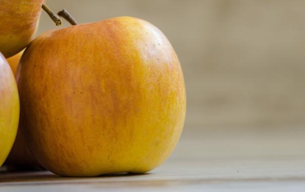 Фото обои яблоки, желтые, фрукт