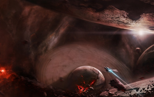 Фото обои обломки, катастрофа, разрушение, spaceship, армагеддон