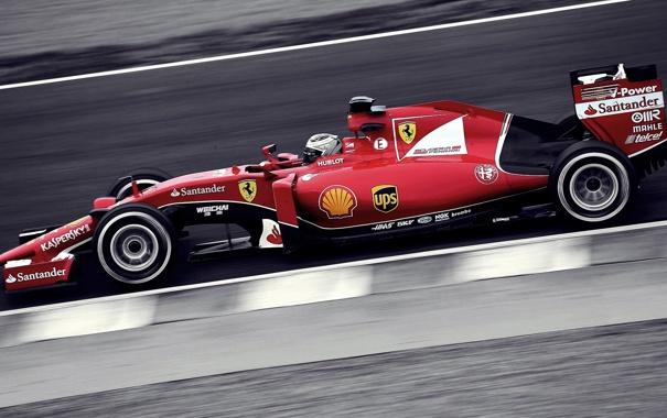 Фото обои car, Ferrari, red, 2015, selective coloring, scuderia SF15 T