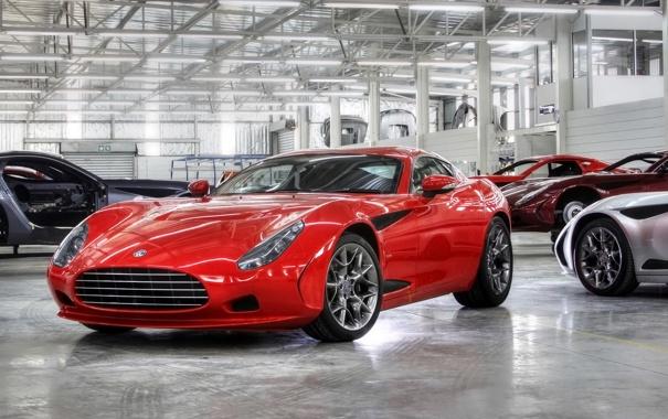 Фото обои красный, купе, спорткар, Zagato, AC 378 GT