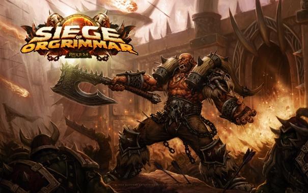 Фото обои WoW, World of Warcraft, Орк, 5.4, Осада Огриммара, Siege of Orgimmar