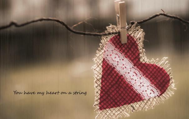 Фото обои фон, надпись, сердце