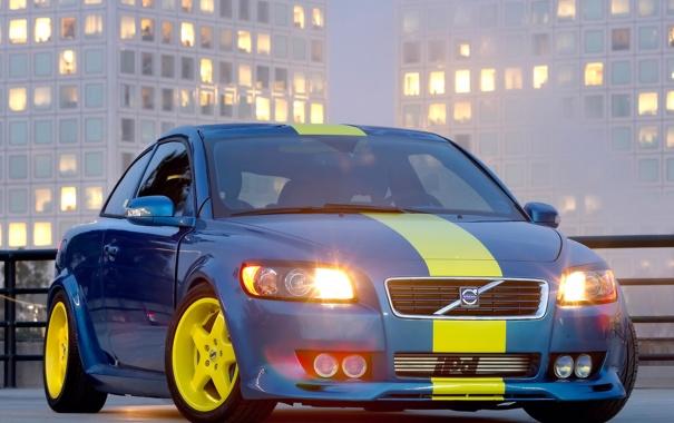 Фото обои машина, volvo c30 concept, авто