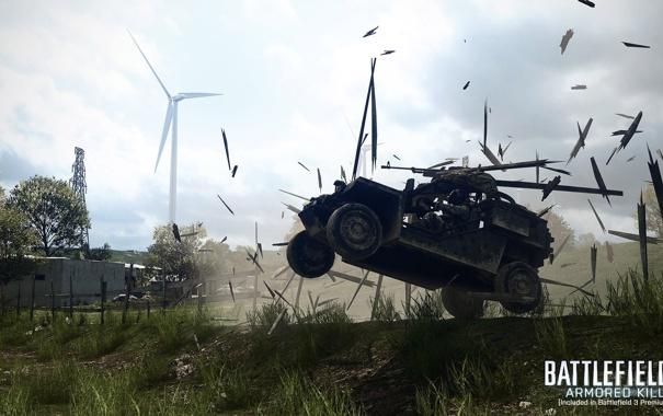 Фото обои джип, Battlefield 3, инженер, Armored Kill