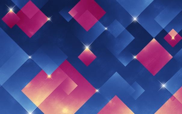 Фото обои кубики, ромбы, Happy 2011, сияют