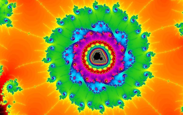 Фото обои свет, фрактал, узор, симметрия, цвет