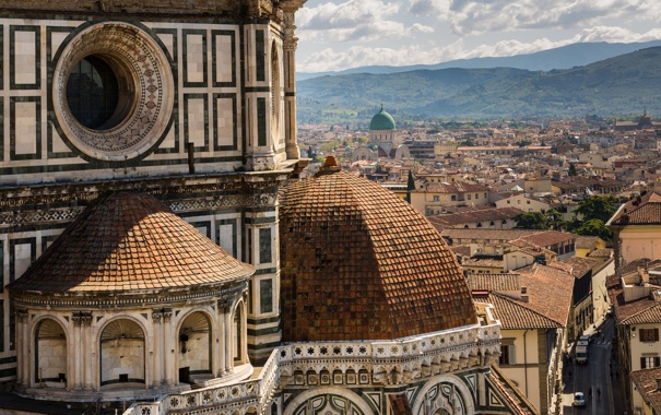 Фото обои дома, Италия, собор, Флоренция, улицы, Санта-Мария-дель-Фьоре, Florence Cathedral